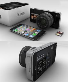 iCam Concept Case, Adds Interchangeable Lenses To Your iPhone: The iCam can transform the already great pocket smartphone camera into a fully smart camera with interchangeable lenses. The iCam case would be created from aluminium and feature interchangeable Apple-Lens lenses, using an iMount mounting system. Together with a front touch screen for self-portraits, and to access the onboard micro-app.