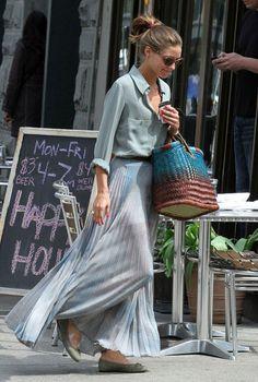 Pleated maxi skirt - Olivia Palermo