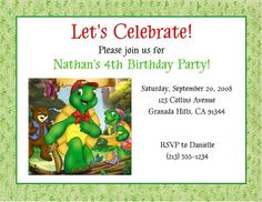 Franklin the Turtle Invitations | Flickr - Photo Sharing!
