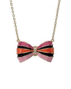 Little Miss Twin Stars 'Bow Beautiful' 14K Plated CZ Necklace