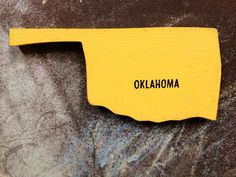 Oklahoma State Map Magnet - Vintage Puzzle Piece on Etsy, $2.00