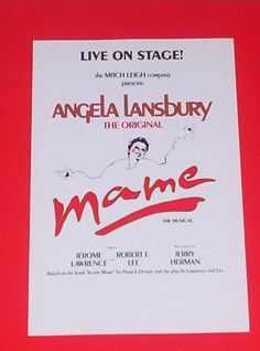 Live On Stage! Angela Lansbury The Original MAME The Musical Broadway Revival Herald NYC 1983