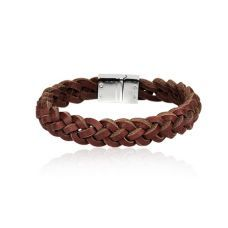 EL- Brown Men´s leather bracelet