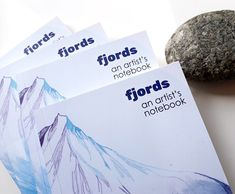 FJORDS: AN ARTIST'S NOTEBOOK - did you miss out on the #Kickstarter ? Limited edition of my Norway sketchbook is now in my online shop! A5 Paperback, 100+ pages  TO BUY: spreesy.com/tina-m/71  #artistbook #artsale #spreesy #fjords #crinklyedges #tinatheartist #sketchbook