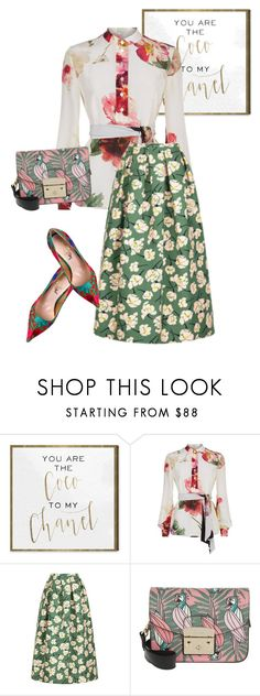 """skirt"" by masayuki4499 ❤ liked on Polyvore featuring Oliver Gal Artist Co., Lanvin, Rochas, Furla and Vivienne Westwood"