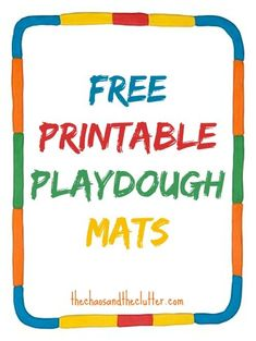 These free printable playdough mats make setting up a playdough station easy and most incorporate learning concepts as well. Preschool Learning, Learning Activities, Time Activities, Teaching, Playdough Activities, Preschool Activities, Tot School, Early Childhood Education, Speech And Language