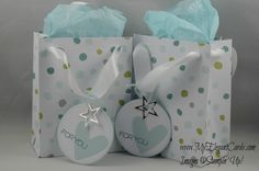Gift bag punch board - My Elegant Cards - Paper Pumpkin Wish Big - July 2014 - Stampin' Up! - Liz Bailey
