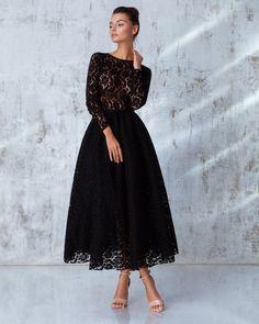 Платье «Франческа» миди черное, Цена — 34 990 рублей