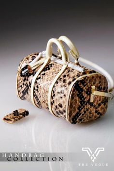 HB1060 The Vogue Brown Snake Print Leather Cross Body Bag with Purse for FR FR2