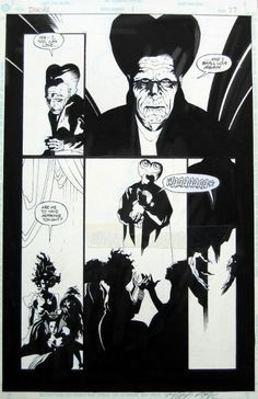 Page from the movie adaptation of Bram Stokers Dracula by Mike Mignola