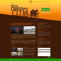 Whether you're an avid biker or a fan of cycling, the Bikers Club website template is a useful tool for the organization of biking/cycling activities. Html Website Templates, Biker Clubs, Bikers, Cycling, Blog, Sport, Biking, Deporte, Blogging