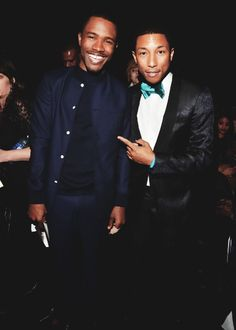 Frank O & Skateboard P at the 55th GRAMMY Awards. Frank wins Best Urban Contemporary Album for Channel Orange.