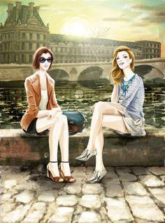 Guilhermina by Giovane Design #diseño #ilustracion de #moda