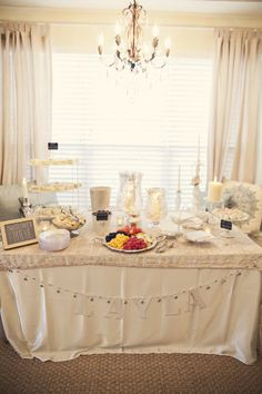 A classic neutral  baby shower theme