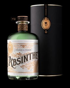 This is our favorite bottle out there. We wouldn't want to do a colored bottle for gin, but the beautiful, vintage font with gold detail is fantastic.
