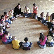 Type:  Warm-up. Purpose: To work as a team. To work on focus. Materials: A big enough space for the entire class to sit in a circle comfortably. Procedure:  Players sit in a circle. One person says a single word to begin a story. The person to his left says another word, then the next person [...]
