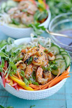Grilled Shrimp Spring Roll Noodle Bowls l SimplyScratch.com (8)