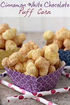 Cinnamon White Chocolate Puff Corn ~ Perfectly Sweet
