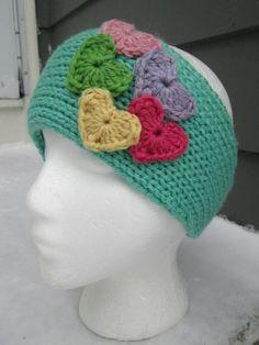 Valentine's Day Knit Headband with Valentine's by WendysWonders127, $22.00