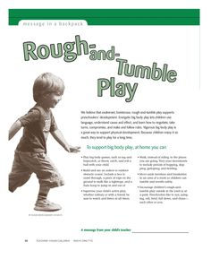 We believe that exuberant, boisterous, rough-and-tumble play supports… Play Based Learning, Learning Through Play, Early Learning, Social Emotional Development, Child Development, Preschool Printables, Preschool Ideas, Magazines For Kids, Parent Resources