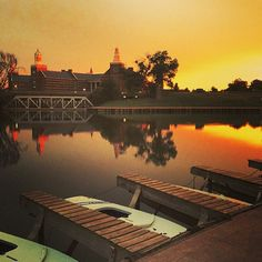 Sunset at the #Baylor University Marina (via jrue18 on Instagram)