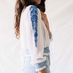 Vintage Antique Embroidered Blouse at General Store