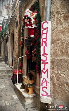 Christmas shop in Dubrovnik. Open all year. Dubrovnik, Christmas Shopping, Croatia, Ladder Decor, Best Gifts, Xmas, Spaces, Holidays, Travel