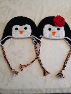 Penguin hat Nb-child $15 Teen-adult $20 Flower ($3)/bow ($2) optional