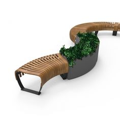 Green Furniture Concept | Radius Planter  | Planters in line with the Green Furniture seating. Can serve as corners, connectors dividers and turning joints in a bench formation. Seamless and modular, and with curvature of choice just like the seating.