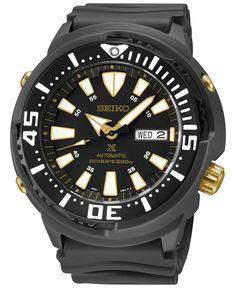 Seiko Men's Automatic Prospex Black Strap Watch 47mm SRP641