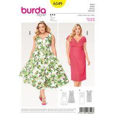 Robe manches courtes; Burda style Motif B6549 femmes & # 39