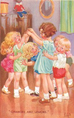 """ORANGES AND LEMONS."" ~ vintage Oilette postcard"