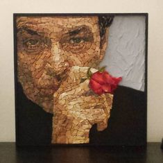 Ritratto Jack Nicholson   #mosaic #contemporaryart #jacknicholson #art #myart #actor #rose #stone #marmi