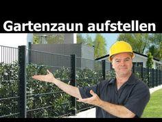 Zaun selber bauen / aufstellen | Doppelstabmattenzaun aufbauen | Metallzaun - Montage - YouTube