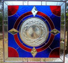 Stained Glass Panel Featuring Vintage Cape Cod Plate