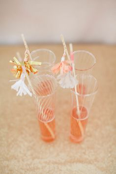 Tassel stirrers: http://www.stylemepretty.com/2015/04/20/diy-decorative-tassels/ | Photography: Ruth Eileen - http://rutheileenphotography.com/