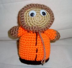Crochet South Park Kenny Orange  Kids Toy  Birthday by earflaphats, $24.00