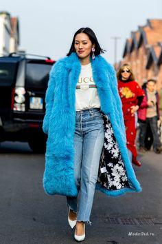 Уличная мода: Уличный стиль недели моды в Милане сезона осень-зима 2017-2018