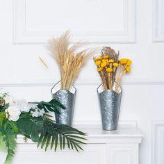 Old Fashioned Galvanized Milk Can Country Rustic Farmhouse Planter Vase Decorative Jug Medium Sized 8-inch