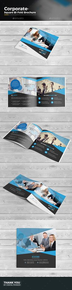 Square Bi Fold Brochure Template- Multipurpose Designis very easy to use andchange text,color,size,look and everything because i m