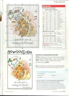 Newton We Wish you a Messy Christmas by Rory Tyger The World of Cross Stitching Issue 183 Hardcopy