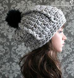 Crochet PATTERN - Bulky Crochet Beanie Pattern                                                                                                                                                                                 More