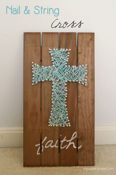Nail and String Cross - DIY- Tutorial