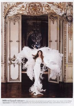 Gisele Bundchen in Chanel Haute Couture, shot by Karl Lagerfeld for Harpers Bazaar, June 2007