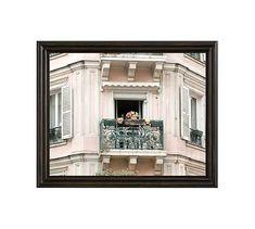 "Spring Fever in Montmartre Framed Print by Rebecca Plotnick, 20 x 16"", Ridged Distressed Frame, Black, No Mat"