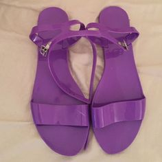 Purple Old Navy sandals In excellent condition. Has one small white mark (see pics) Old Navy Shoes Sandals