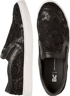 Lace print slip on sneakers.  http://www.swell.com/Womens-Shoes/BC-STRANGER-SLIP-ON-SNEAKER?cs=BL