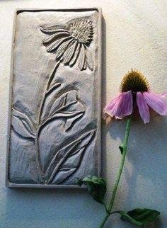 Cone Flower - Ecinacea panel by Val Webb