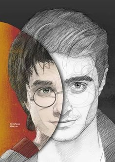 Daniel Radcliffe/ Harry Potter Illustrations by Mike Lee
