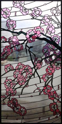 ステンドグラス 作品紹介 No.18013「桜」